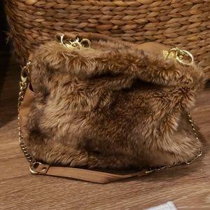 Faux fur medium bag